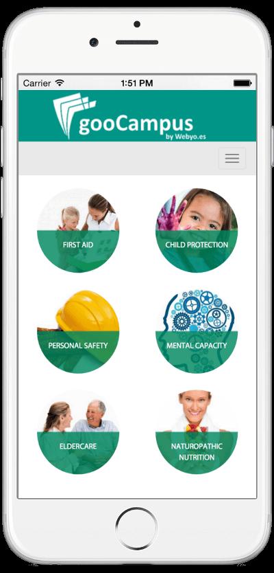 Imagen de la pantalla inicial de la App